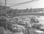 Parkings de voitures : Vue du quai Général Sarrail. Photo CC, Georges Vermard, [19..], collections BML