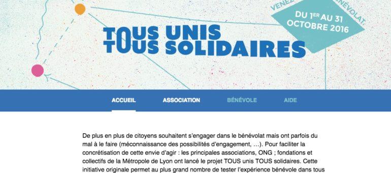 « Tous unis, tous solidaires» ou le Bon Coin du bénévolat lyonnais