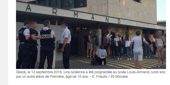 Lycéenne poignardée à Villefranche : «C'est même pas de la connerie, c'est de la folie »