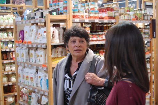 Michèle Rivasi à la Fabrique des producteurs à la Super Halle d'Oullins le 24 octobre 2016. Photo BE/Rue89Lyon
