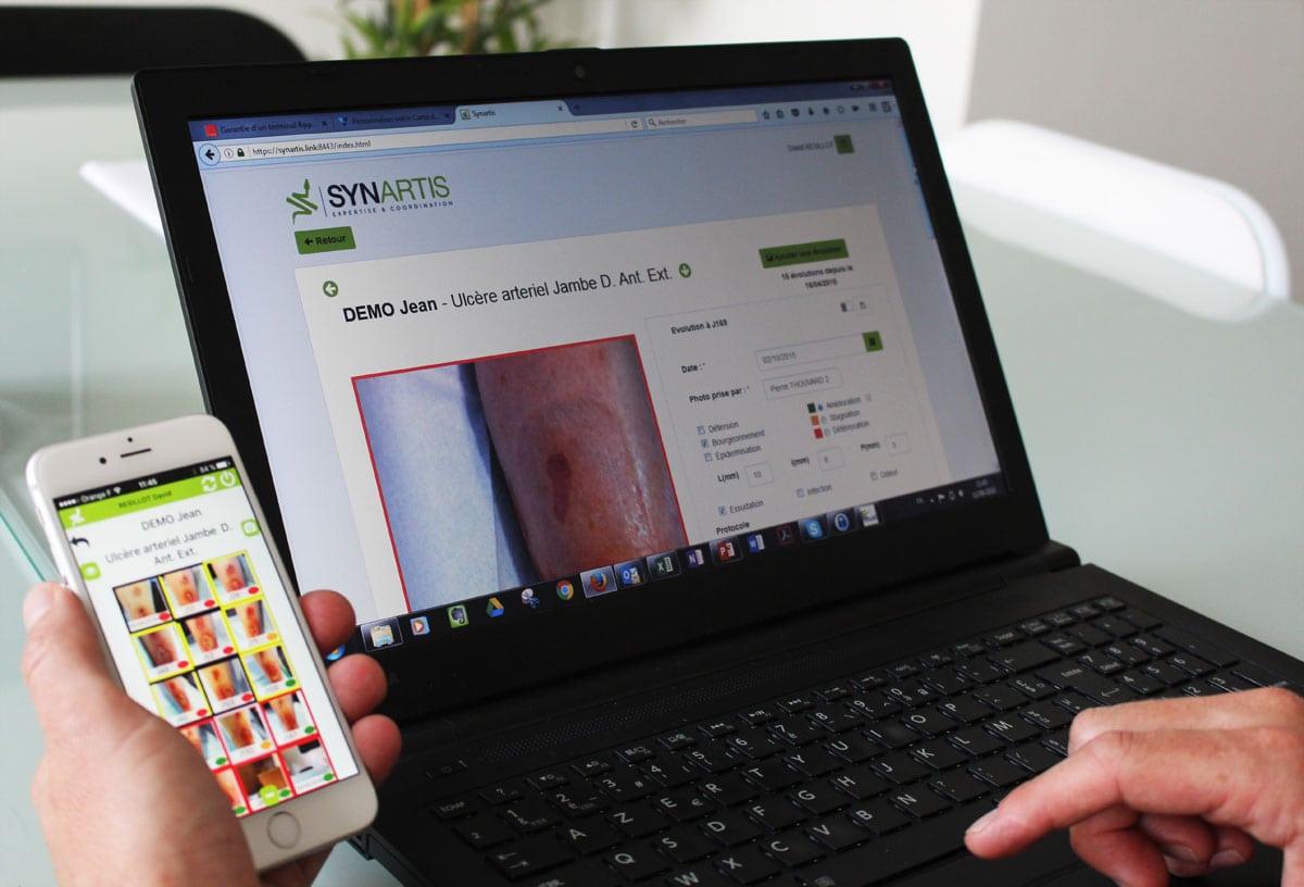 L'application développée par l'entreprise oullinoise a été récompensée par la bourse French Tech. © Amélie James/Rue89Lyon