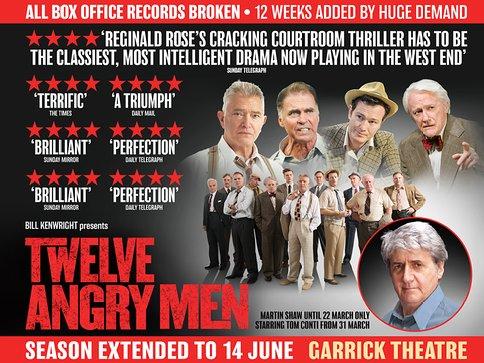 Fin de carrière sur les planches à Londres avec 12 hommes en colère