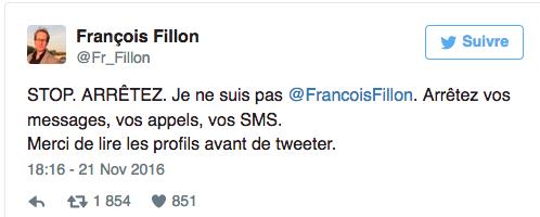 «Stop !» La galère de l'autre François Fillon sur les réseaux sociaux