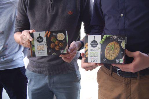 Les produits de la marque Le Boucher Vert lancée par l'entreprise Ici&Là de Lyon. Photo BE/Rue89Lyon