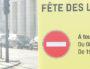 Un élément du dispositif anti-bélier mis en place au niveau du Pont Lafayette pour la Fête des Lumières.