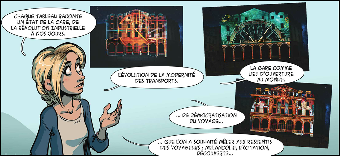 """Le """"reportage contemporain"""" du numéro 23 des Rues de Lyon, consacré à la Fête des Lumières. © Les Rues de Lyon"""
