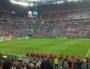 La pelouse et l'intérieur du Parc OL lors de la demi-finale de l'Euro 2016 mercredi 6 juillet 2016 entre le Pays-de-Galles et le Portugal. Photo BE/Rue89Lyon