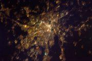Photo de Lyon vue de l'espace prise par l'astronaute Thomas Pesquet. Photo Twitter