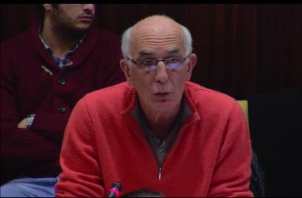 Guy Tuscher, lors de son intervention au conseil municipal du 19 décembre 2016. Crédit : Ville de Grenoble.