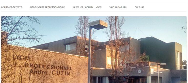 Création du journal du lycée professionnel Cuzin, à Caluire-et-Cuire