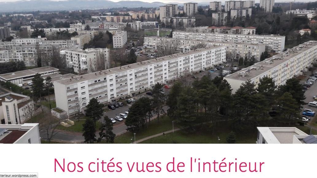 """Home page du blog """"Nos Cités vues de l'intérieur"""". Capture décran"""