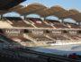 Pour les rencontres du LOU Rugby les virages sont fermés pour réduire la capacité du Matmut Stadium. Photo BE/Rue89Lyon