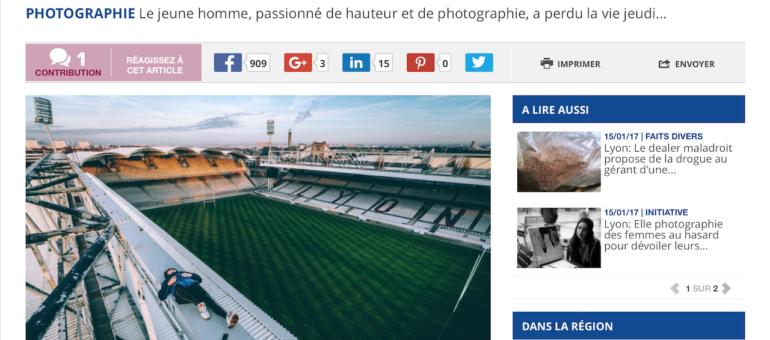 Décès de Maxime, jeune photographe passionné par les sommets de Lyon