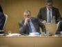 Le premier vice-président de la Région Auvergne-Rhône-Alpes, Etienne Blanc à l'assemblée plénière du 9 février 2017 à l'hôtel de région à Lyon. ©Léo Germain/Rue89Lyon