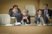 Florence Verney-Carron, vice-présidente déléguée à la culture et au patrimoine, en assemblée plénière (février 2017) ©Léo Germain/Rue89Lyon