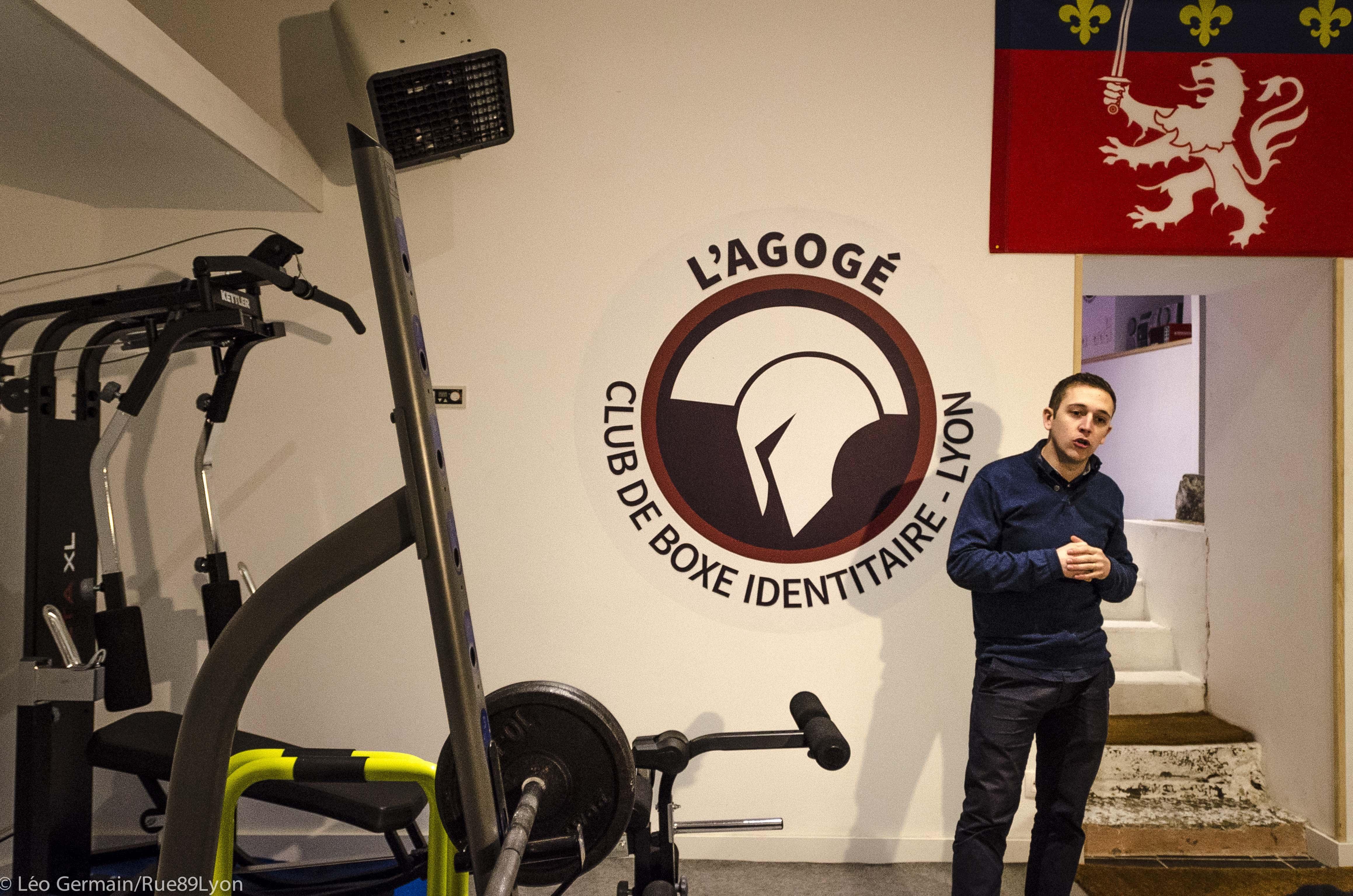 Conférence de presse à l'Agogé, club de boxe identitaire le 27 janvier 2017 à Lyon ©Léo Germain/Rue89Lyon.