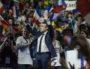 Emmanuel Macron lors de son meeting à Lyon le 4 février au palais des sports. ©Léo Germain/Rue89Lyon
