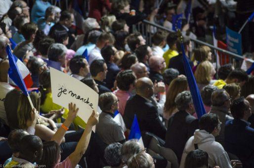 Supporters lors du meeting d'Emmanuel Macron le 4 février au palais des sports de Lyon. ©Léo Germain/Rue89Lyon