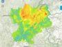 Prévision de pollution pour le 15 février. Capture d'écran ATMO Auvergne-Rhône-Alpes