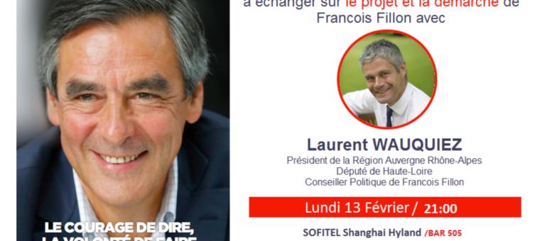 En Chine aux frais de la Région, Laurent Wauquiez récupère des dons pour Fillon