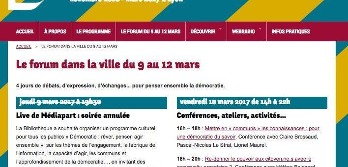 Pourquoi la Ville de Lyon a empêché la tenue d'un débat de Mediapart sur la démocratie