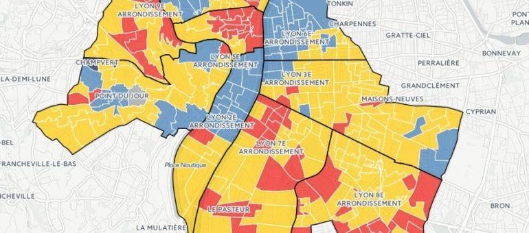 [Carte] Présidentielle 2017 à Lyon : comment mon voisin a voté au 1er tour