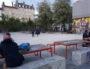 A la Guillotière, les tables de la place Mazagran où se sont faites attaquer une trentaine de personnes. ©LB/Rue89Lyon