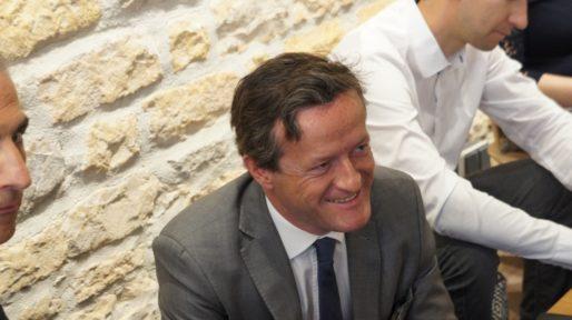 Thomas Rudigoz à l'Anticafé le mardi 16 mai 2017 lors de la présentation des candidats de la République En Marche ! aux élections législatives 2017. ©HH/Rue89Lyon