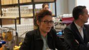 Blandine Brocard à l'Anticafé le mardi 16 mai 2017 lors de la présentation des candidats de la République En Marche ! aux élections législatives 2017. ©HH/Rue89Lyon