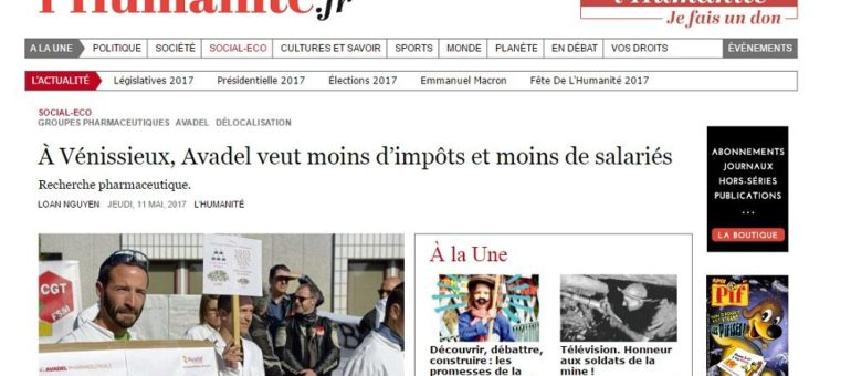 À Vénissieux, le laboratoire Avadel veut moins d'impôts… et moins de salariés