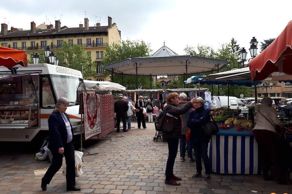 Le marché de Monplaisir à Lyon. ©LB/Rue89Lyon