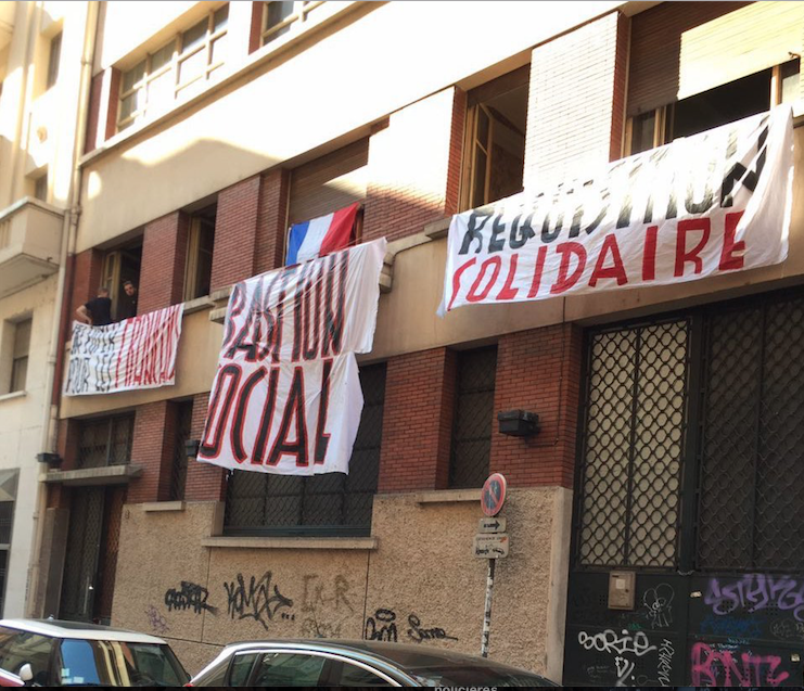 "Le squat ""Bastion social"" du GUD à Lyon. Capture d'écran Facebook."