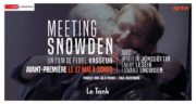 Affiche du documentaire Meeting Snowden ©DR