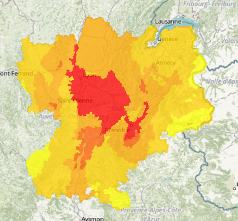 Les bassins grenoblois et de Lyon Nord-Isère sont touchés par un pic de pollution à l'ozone ce mardi 20 juin.