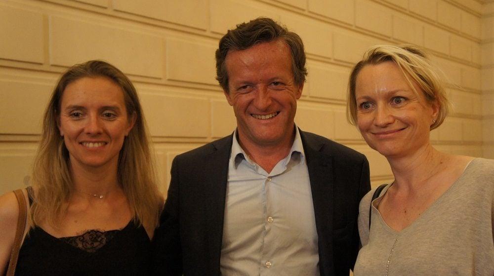 Thomas Rudigoz et Caroline Collomb au 2ème tour des législatives à la préfecture du Rhône le 18 juin 2017. ©HH/Rue89Lyon