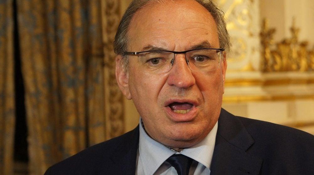 Bernard Perrut au 2ème tour des législatives à la préfecture du Rhône le 18 juin 2017. ©HH/Rue89Lyon