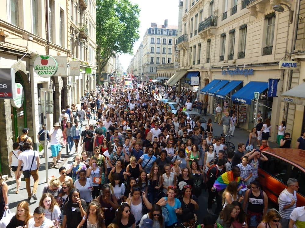 La 20e Marche des fiertés de Lyon, en juin 2015, rue Édouard Herriot. ©DR