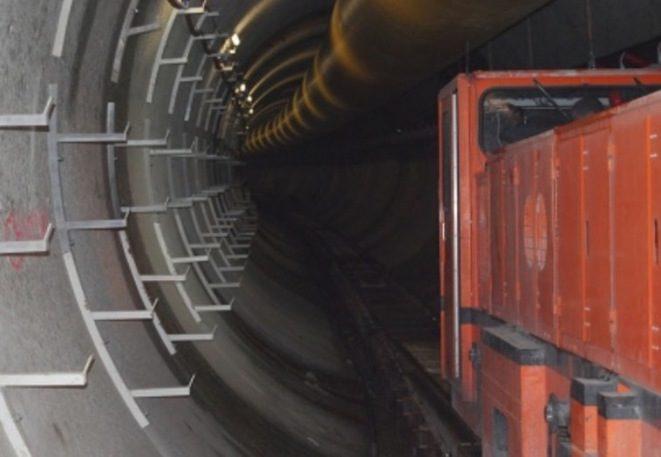 Sur le chantier du Lyon-Turin en 2014. ©DR