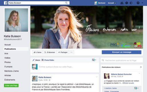 Capture d'écran page Facebook de Katia Buisson