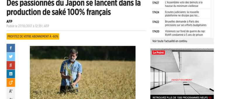 a4f99b7e8bc Le premier saké 100% français produit dans le Pilat