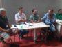 François Aubriot (micro en main), directeur de DotRiver et président de Ploss-RA, aux Rencontres professionnelles du logiciel libre à Saint-Étienne. Photo BE/Rue89Lyon