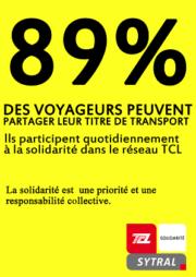 TCL-solidarité/La campagne anti-fraude des TCL détournée.
