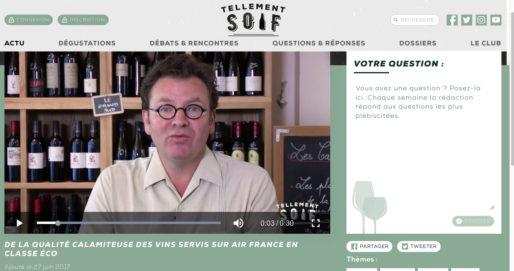 Antoine Gerbelle, journaliste et créateur de TellementSoif.tv. Capture d'écran
