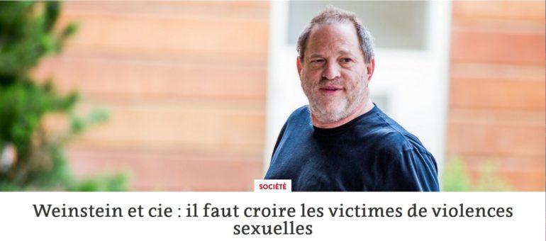 Weinstein et cie : la nécessaire prise de conscience des hommes