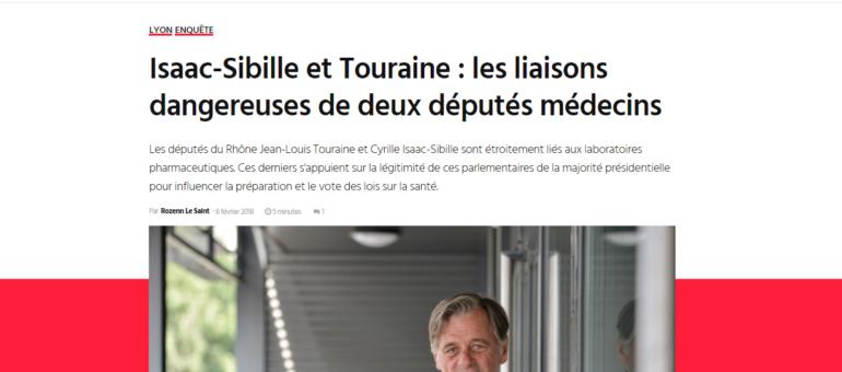 Isaac-Sibille et Touraine : deux députés du Rhône en lien avec les labos pharmaceutiques