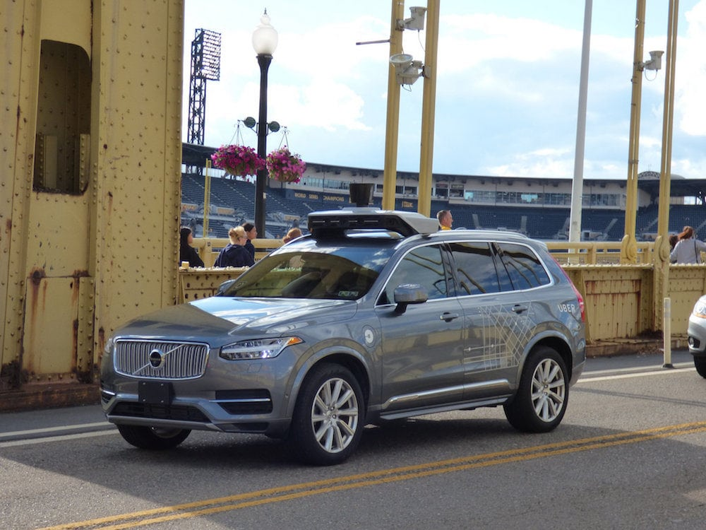Une voiture autonome Uber en test à Pittsburgh CC Flickr/Rex