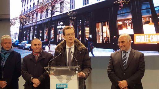 Christophe Fournage, directeur de Firce Capital, société chargée de commercialiser les commerces du quartier Grolée à Lyon. Photo BE/Rue89Lyon