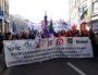 """La banderole de tête de la manif du 22 mars à Lyon """"pour la défense du statut et du service public"""". ©LB/Rue89Lyon"""