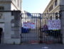 L'entrée rue Chevreul de l'université Lyon 2 bloqué. ©LB/Rue89Lyon