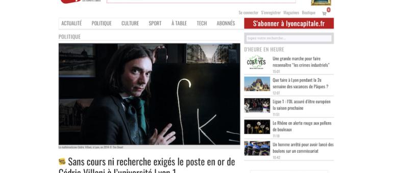 Cédric Villani modifie sa situation après un article sur sa rémunération à Lyon 1